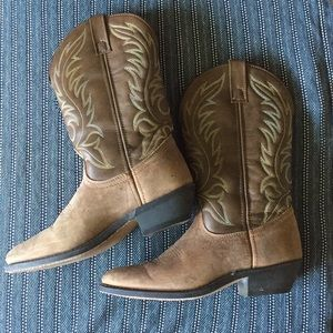 Laredo Lea Vamp Fox Western Boots Excellent Cond.
